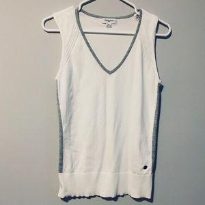Calvin Klein white knit golf vest